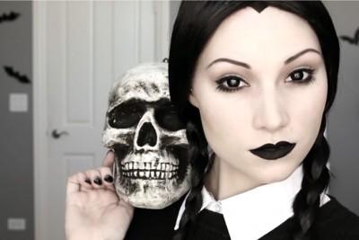 Dressed to Death Wednesday Addams 705x470 400x267 Идеи за грим на Хелоуин