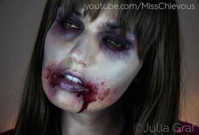 Girl Zombie Makeup 400x273 Идеи за грим на Хелоуин