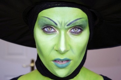 green witch make up womens halloween costumes party make up 400x267 Идеи за грим на Хелоуин